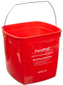 Red Sanitizing Buckets